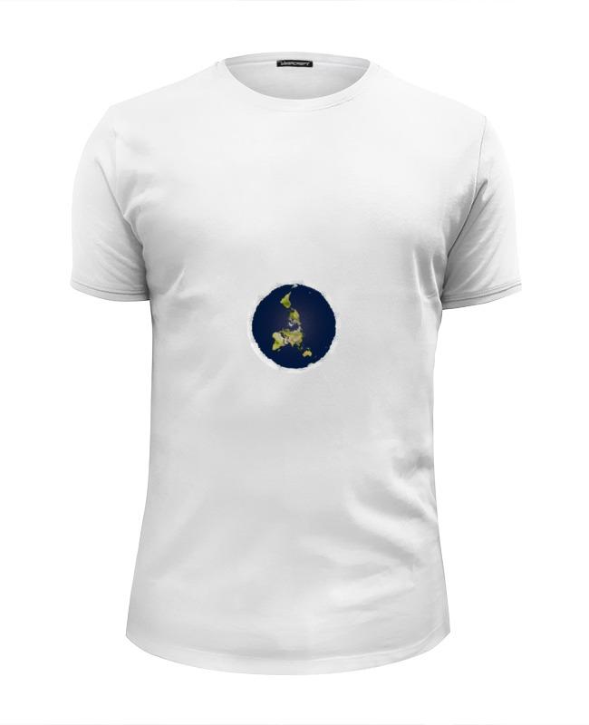Футболка Wearcraft Premium Slim Fit Printio плоская земля (мужская, синяя) футболка мужская отелло темно синяя