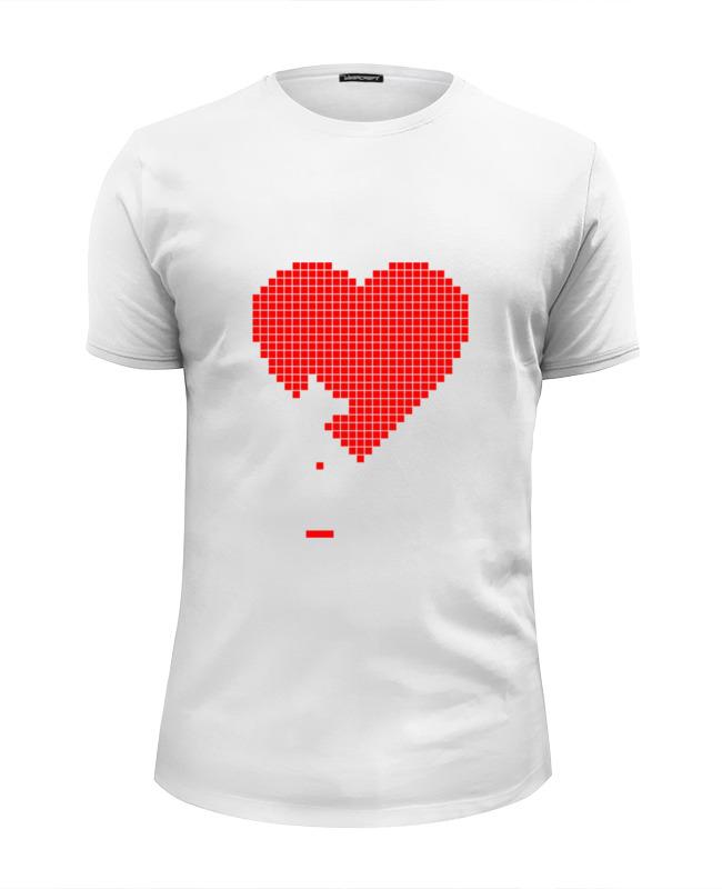 Футболка Wearcraft Premium Slim Fit Printio Пиксельное сердце (8-бит) футболка wearcraft premium slim fit printio обнимая твое сердце
