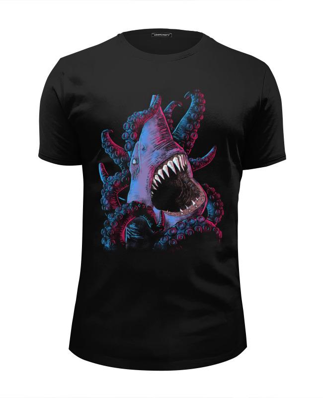 Футболка Wearcraft Premium Slim Fit Printio Акула vs осьминог футболка wearcraft premium slim fit printio акула shark