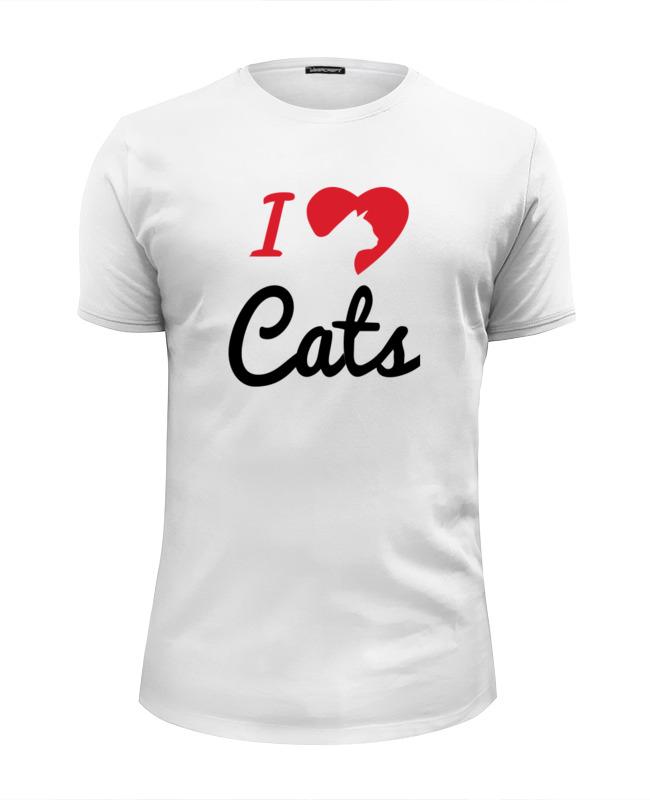Printio Я люблю котов футболка wearcraft premium slim fit printio меньше людей больше котов