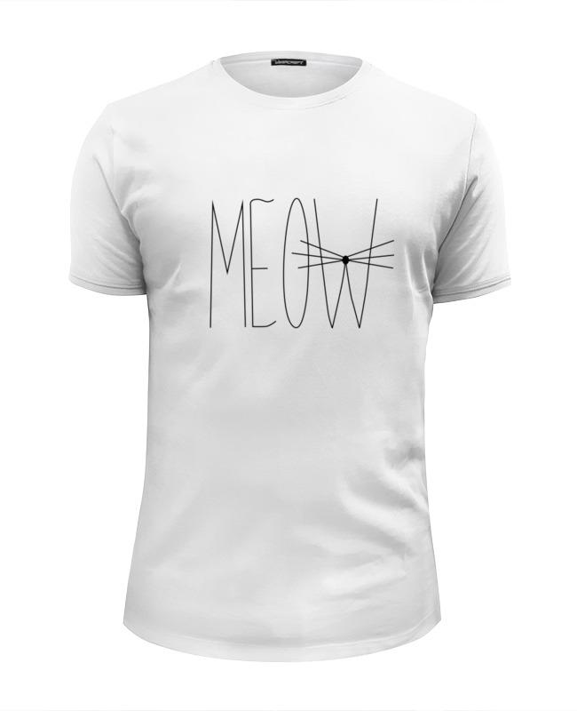 Футболка Wearcraft Premium Slim Fit Printio Meow-meow :) свитшот print bar meow