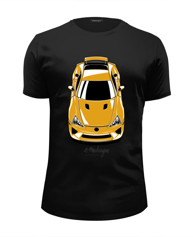 Футболка Wearcraft Premium Slim Fit Printio Lexus lfa