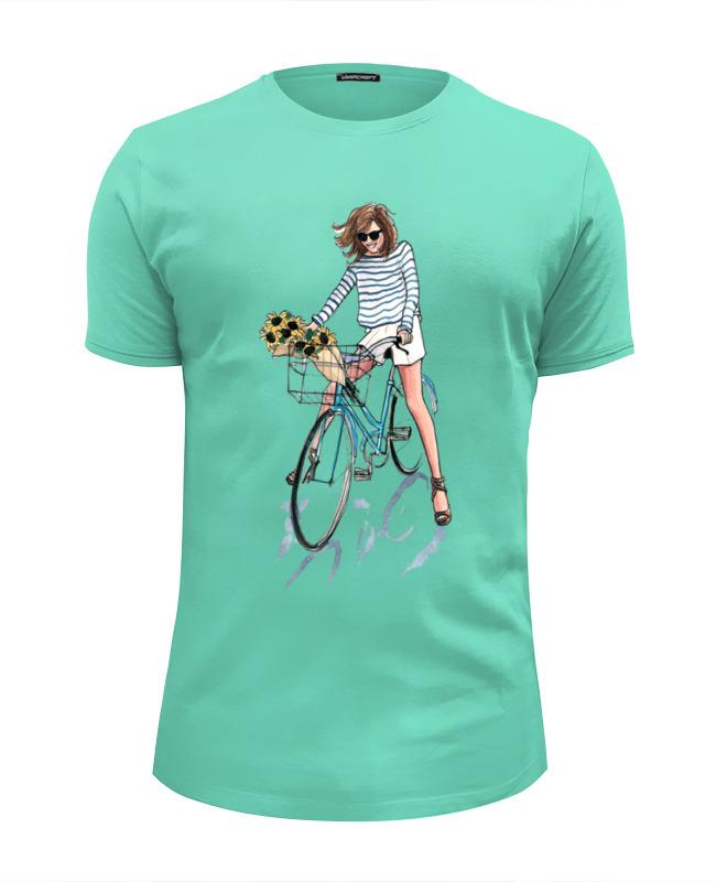 Футболка Wearcraft Premium Slim Fit Printio Девушка с цветами футболка wearcraft premium slim fit printio муравьед с цветами