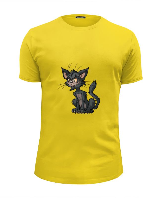 Футболка Wearcraft Premium Slim Fit Printio Странный котик футболка wearcraft premium printio рыжий котик don t panic be cool it s idea shop