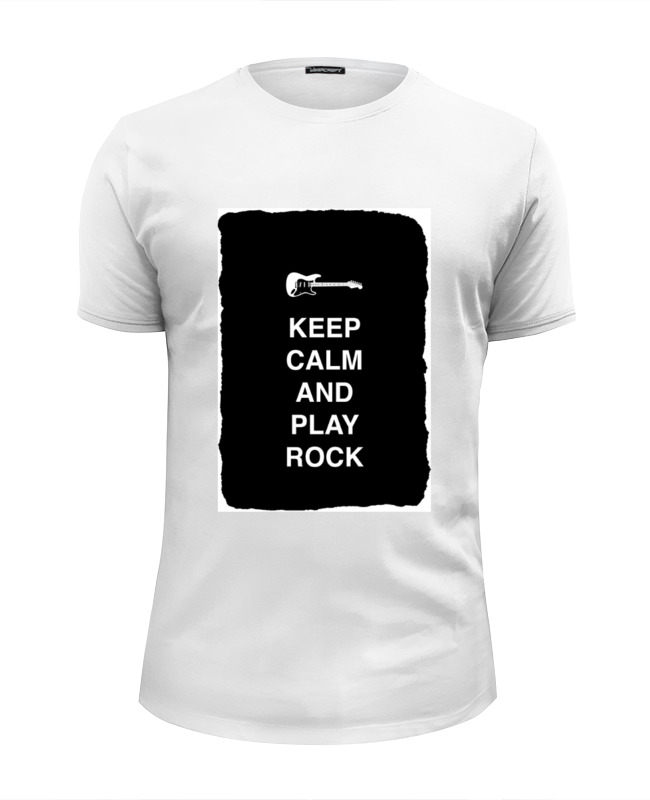 Футболка Wearcraft Premium Slim Fit Printio Keep calm and play rock сумка printio keep calm and play rock