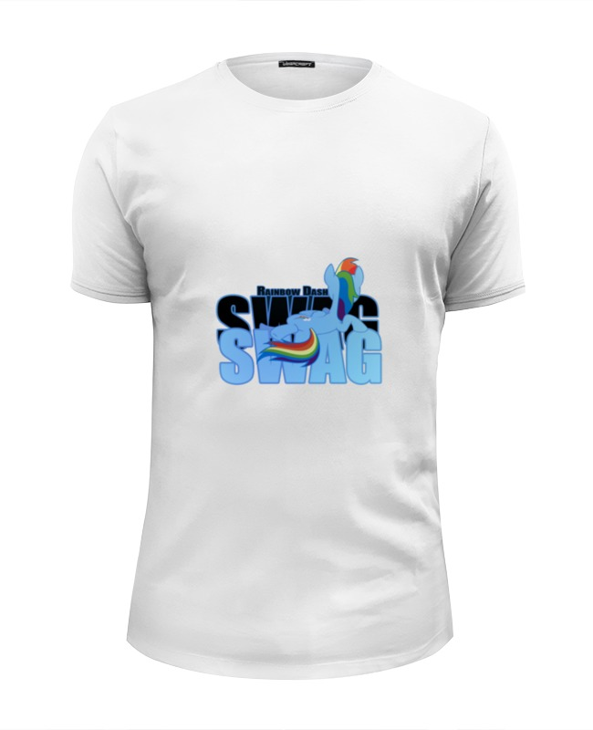 где купить Футболка Wearcraft Premium Slim Fit Printio Rainbow dash is swag дешево