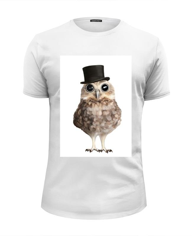 Футболка Wearcraft Premium Slim Fit Printio Совушка джентельмен футболка wearcraft premium slim fit printio совушка