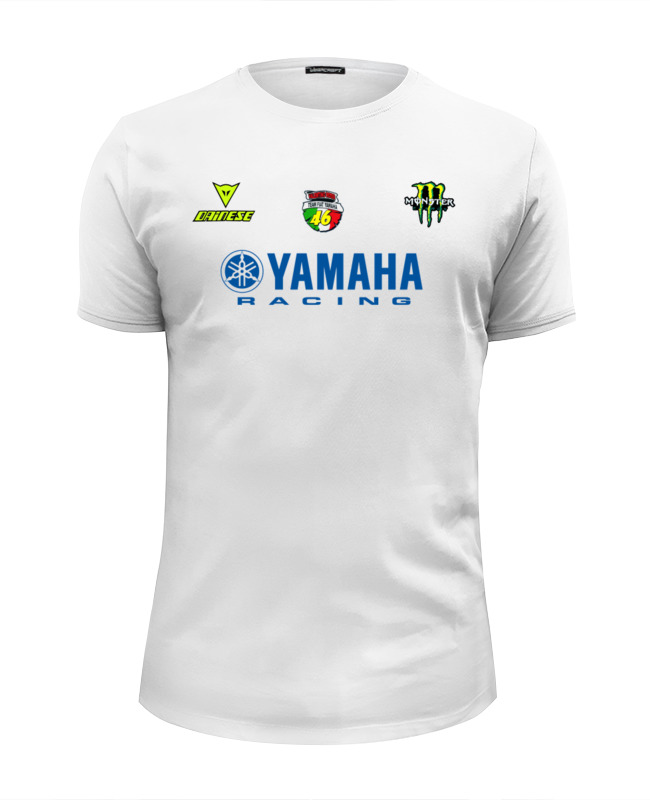 Футболка Wearcraft Premium Slim Fit Printio Yamaha racing
