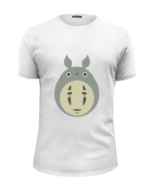 Футболка Wearcraft Premium Slim Fit Printio Тоторо без лица футболка wearcraft premium slim fit printio тоторо