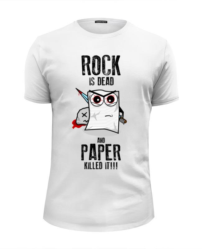 Футболка Wearcraft Premium Slim Fit Printio Rock is dead кружка printio rock is dead