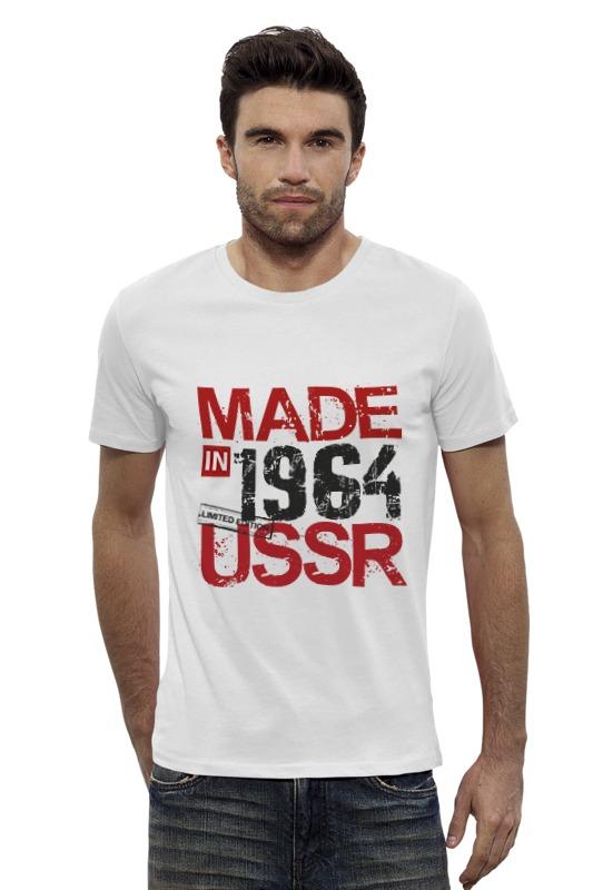 Футболка Wearcraft Premium Slim Fit Printio 1964 год рождения футболка wearcraft premium slim fit printio ussr 1964
