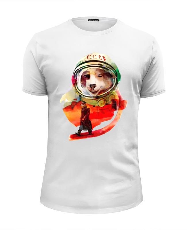 Футболка Wearcraft Premium Slim Fit Printio Белка и стрелка футболка wearcraft premium printio геометрическая белка