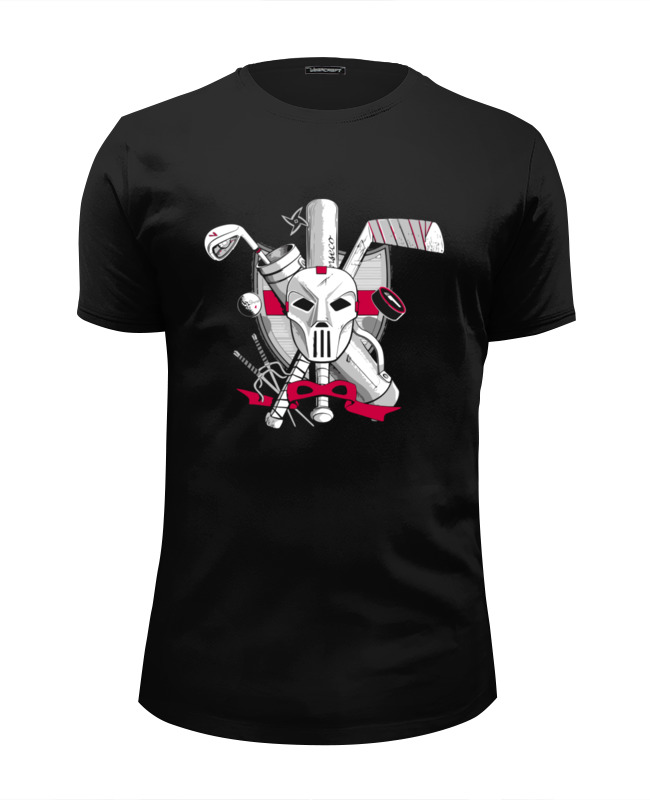 Футболка Wearcraft Premium Slim Fit Printio Кейси джонс (черепашки-ниндзя) черепашки ниндзя леонардо черепашки ниндзя черепашки ниндзя леонардо