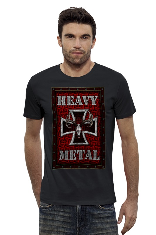 Футболка Wearcraft Premium Slim Fit Printio Heavy metal art футболка wearcraft premium slim fit printio heavy metal art