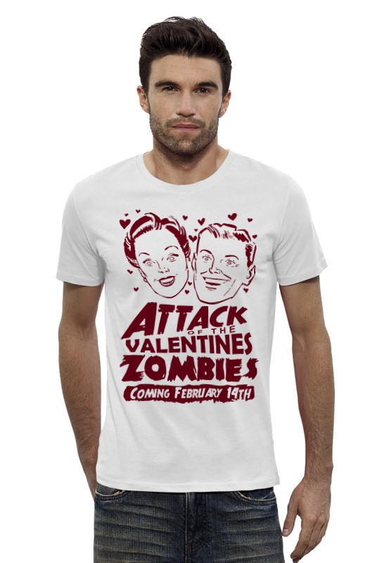 Футболка Wearcraft Premium Slim Fit Printio Attack of the valentine's zombies the zombies колин бланстоун род аргент the zombies featuring colin blunstone