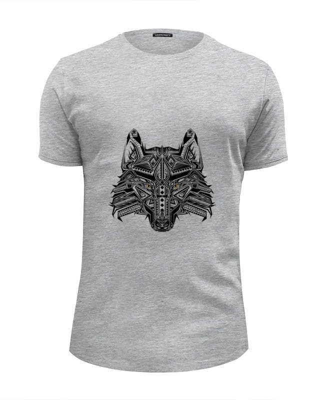Футболка Wearcraft Premium Slim Fit Printio Этнический волк кружка printio этнический волк