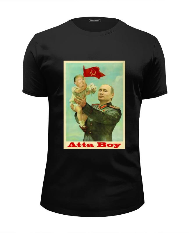 Футболка Wearcraft Premium Slim Fit Printio Путин футболка wearcraft premium slim fit printio путин   герой
