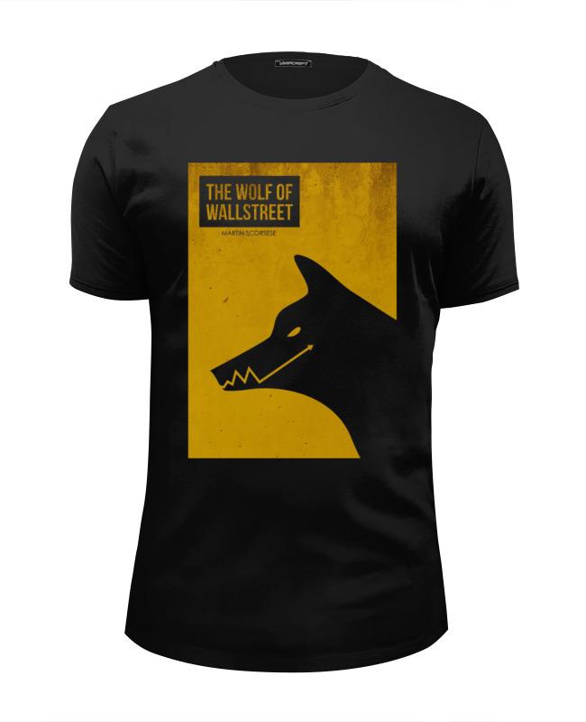 Футболка Wearcraft Premium Slim Fit Printio The wolf of wall street dog the grassy street