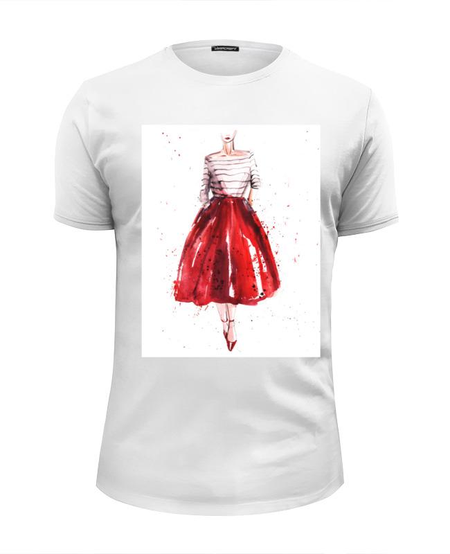 Футболка Wearcraft Premium Slim Fit Printio Red skirt, red lips