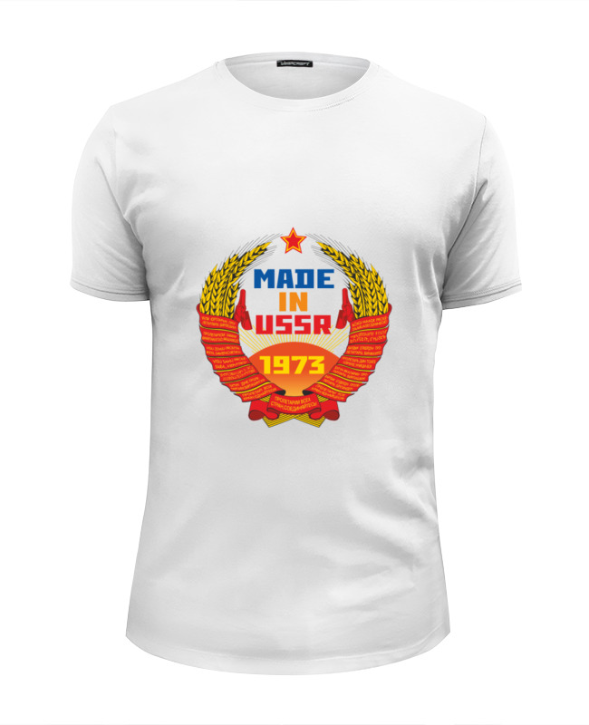 Футболка Wearcraft Premium Slim Fit Printio Made in ussr 1973 футболка wearcraft premium printio made in ussr