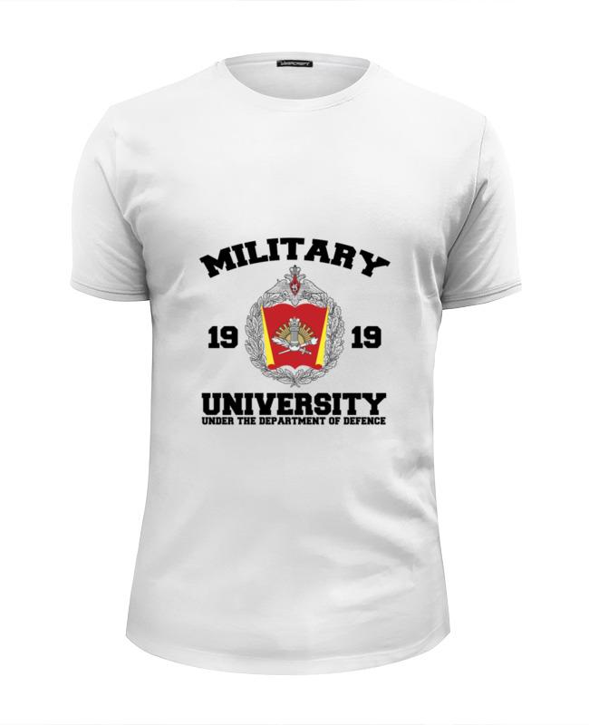 Футболка Wearcraft Premium Slim Fit Printio 2016 военный университет мо рф (белая)