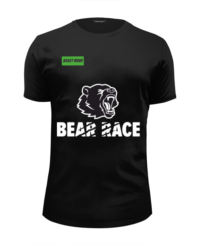 Футболка Wearcraft Premium Slim Fit Printio Bear race beast mode