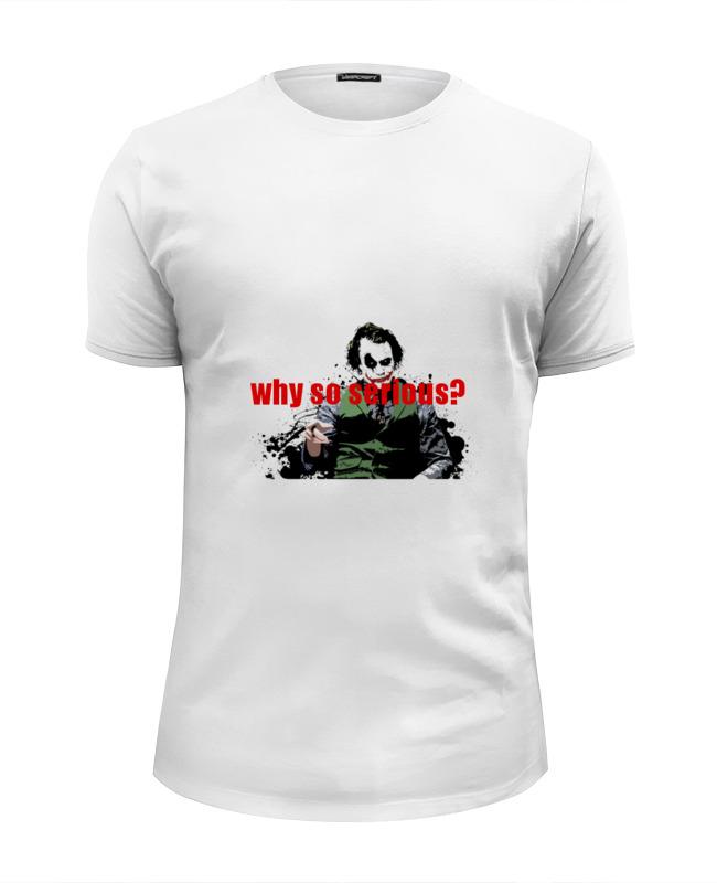 Футболка Wearcraft Premium Slim Fit Printio Joker (why so serious?) толстовка wearcraft premium унисекс printio joker why so serious