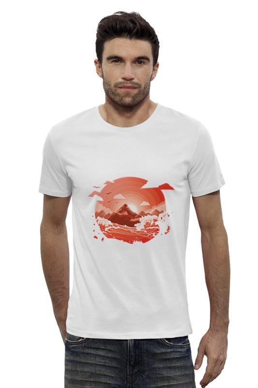 Футболка Wearcraft Premium Slim Fit Printio Красный рассвет над горами