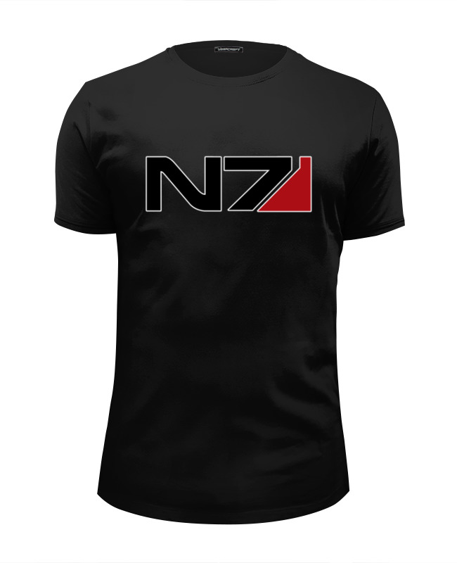 Футболка Wearcraft Premium Slim Fit Printio N7 - mass effect футболка wearcraft premium slim fit printio n7 mass effect