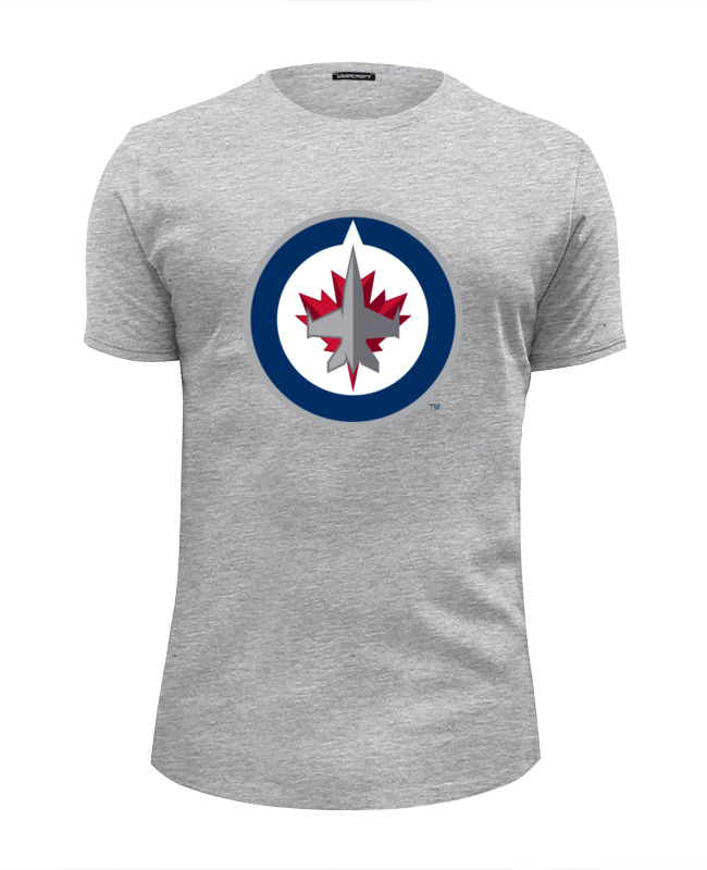 Футболка Wearcraft Premium Slim Fit Printio Winnipeg jets / nhl canada