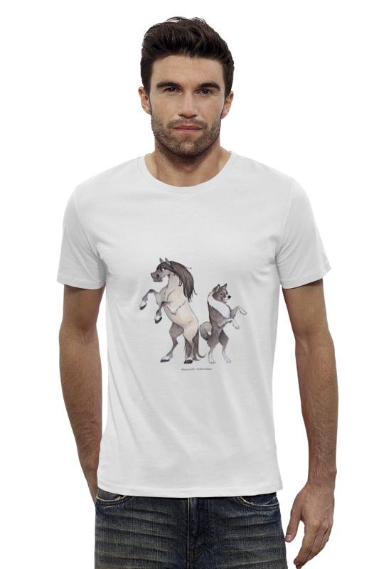 Футболка Wearcraft Premium Slim Fit Printio Якутская лошадь/якутская лайка