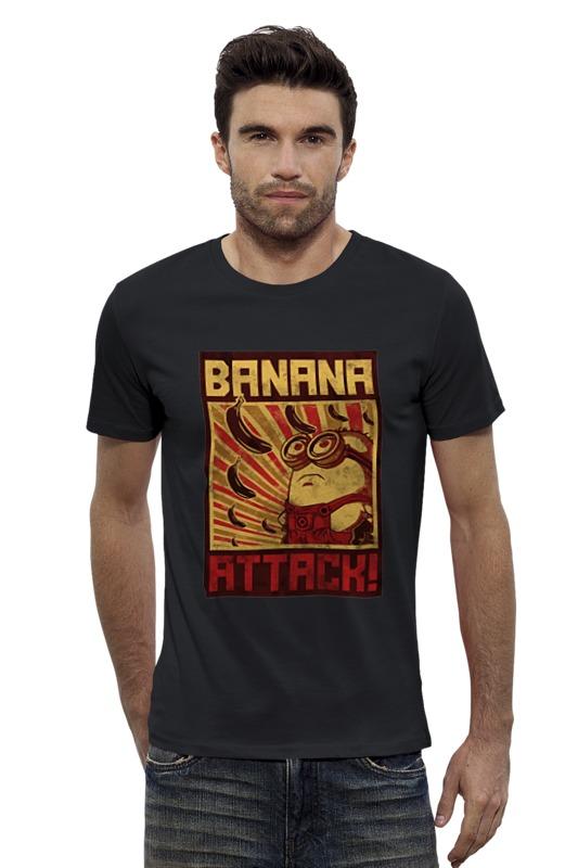 Футболка Wearcraft Premium Slim Fit Printio Атака бананов кордщетка атака 26588