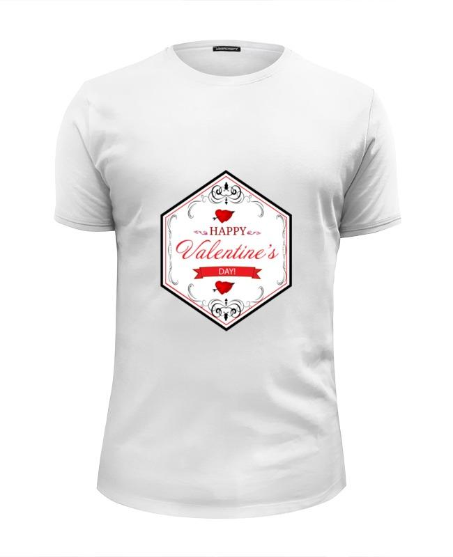 Футболка Wearcraft Premium Slim Fit Printio День святого валентина lapel single breasted slim fit casual blazer