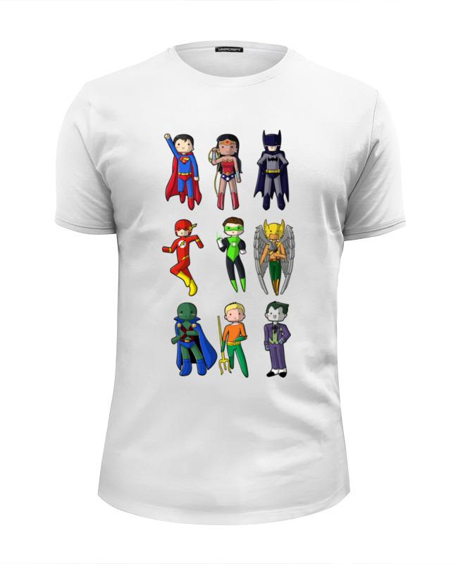 Футболка Wearcraft Premium Slim Fit Printio Лига правосудия (justice league) футболка wearcraft premium printio лига правосудия justice league
