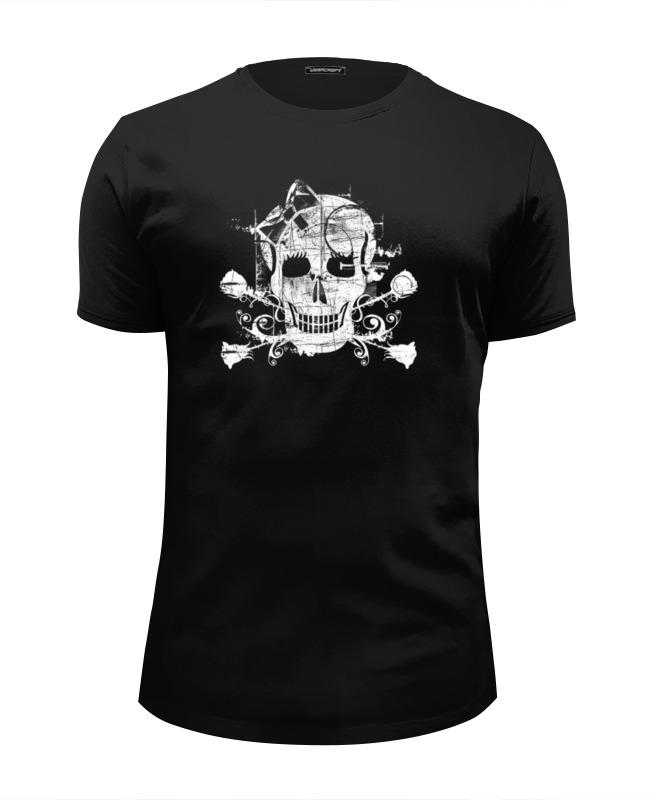 Футболка Wearcraft Premium Slim Fit Printio Skull & roses