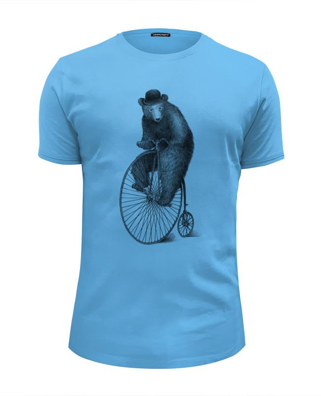 Футболка Wearcraft Premium Slim Fit Printio Медведь на велосипеде футболка wearcraft premium slim fit printio уилл койот на велосипеде