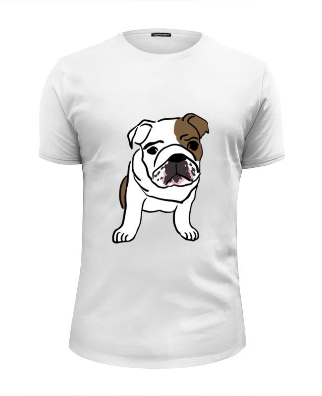 Футболка Wearcraft Premium Slim Fit Printio Собака (английский бульдог) футболка wearcraft premium printio французский бульдог
