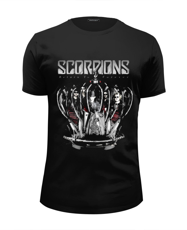 Футболка Wearcraft Premium Slim Fit Printio scorpions - return to forever tour choosing to return