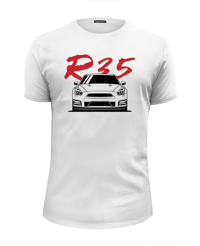 Футболка Wearcraft Premium Slim Fit Printio Nissan gtr r35 туфли r35 2015