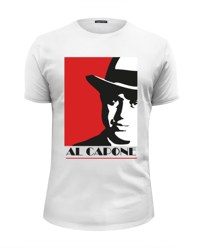 цены Футболка Wearcraft Premium Slim Fit Printio Аль капоне (al capone)