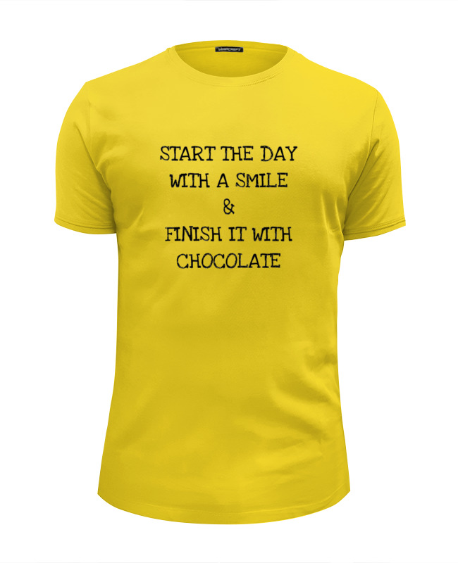 Футболка Wearcraft Premium Slim Fit Printio Smile and chocolate антицеллюлитные леггинсы slim n color 4307a размер m 44 48 chocolate 4307а 778 2