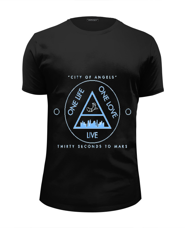 Футболка Wearcraft Premium Slim Fit Printio City of angels - 30 seconds to mars