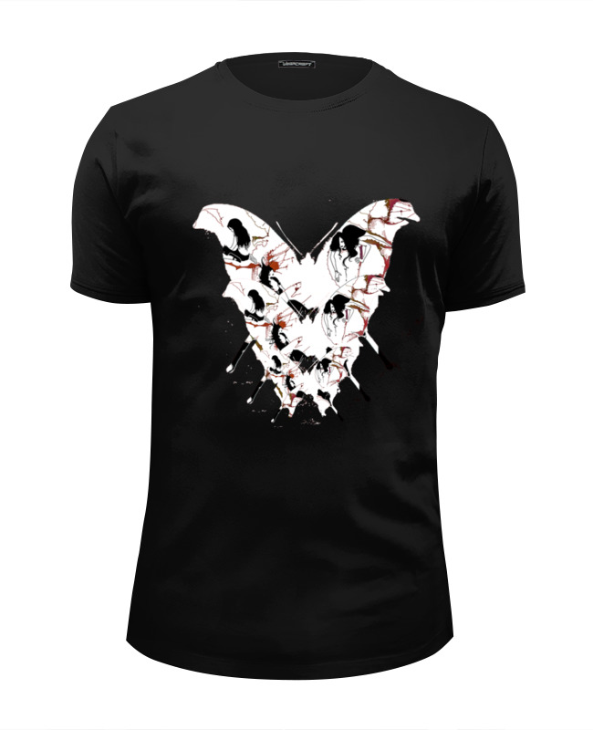 Футболка Wearcraft Premium Slim Fit Printio Бабочка ангела смерти футболка wearcraft premium printio бабочка ангела смерти