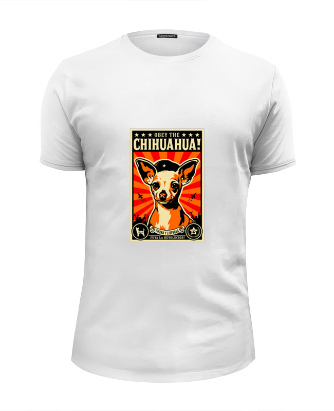 Футболка Wearcraft Premium Slim Fit Printio Собака: chihuahua color fest chihuahua