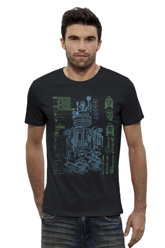 Футболка Wearcraft Premium Slim Fit Printio Дроид r2-d2 футболка wearcraft premium printio дроид k 2so