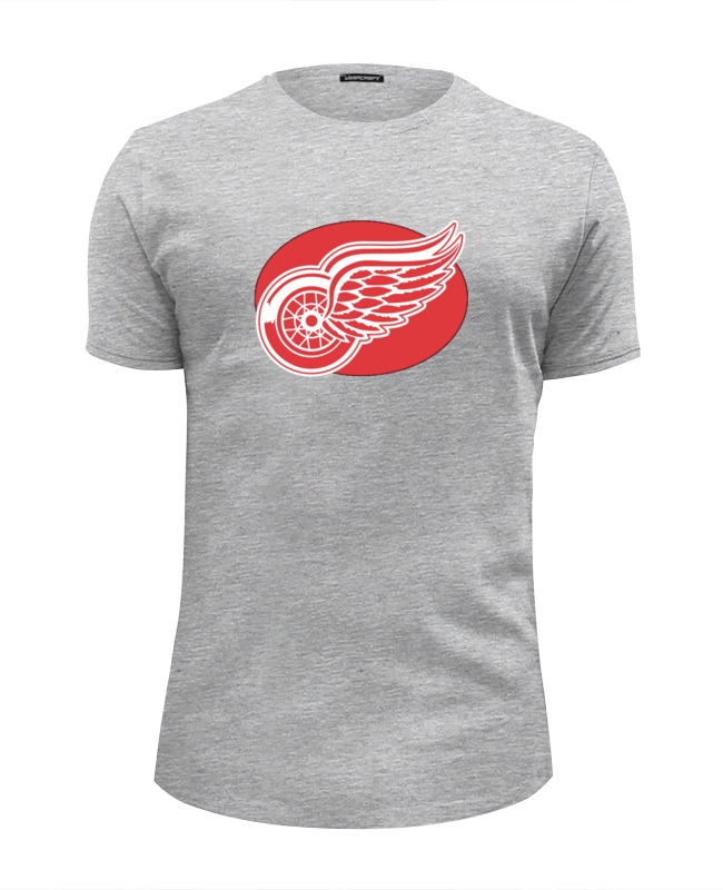 Футболка Wearcraft Premium Slim Fit Printio Detroit red wings / nhl usa цена