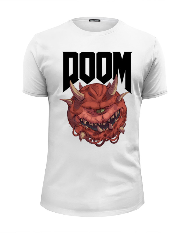 Футболка Wearcraft Premium Slim Fit Printio Doom game все цены