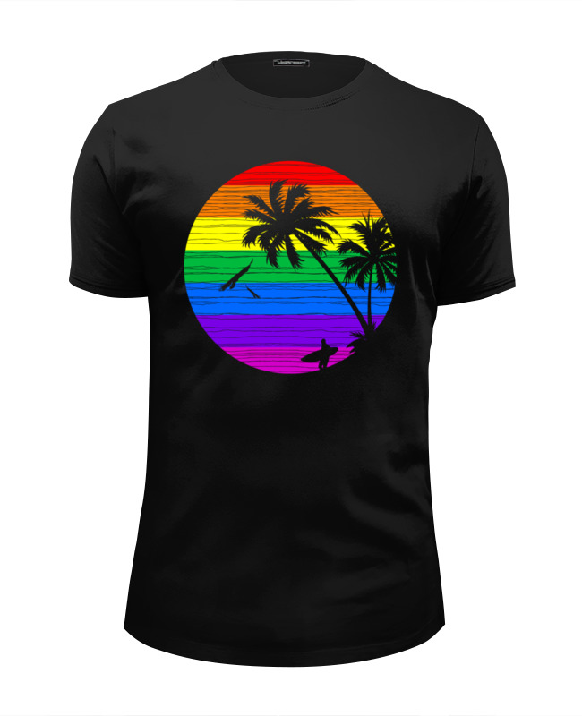 Футболка Wearcraft Premium Slim Fit Printio Радужное солнце футболка классическая printio радужное солнце
