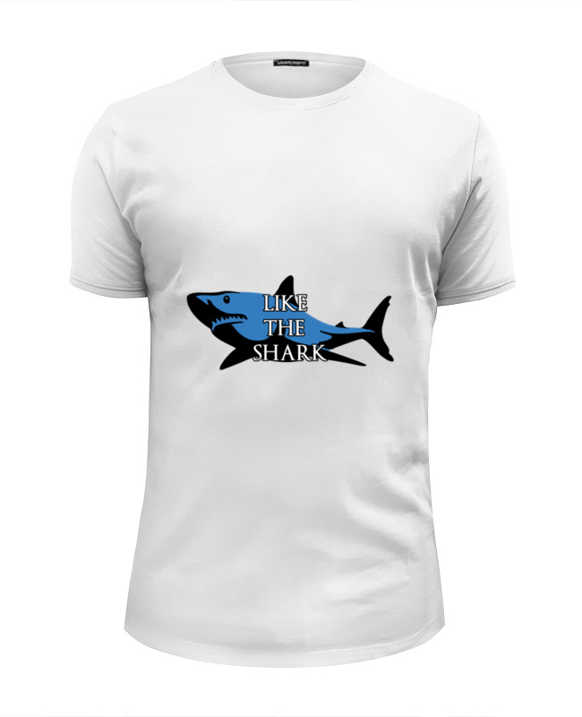 Футболка Wearcraft Premium Slim Fit Printio Like the shark футболка wearcraft premium slim fit printio shark attack