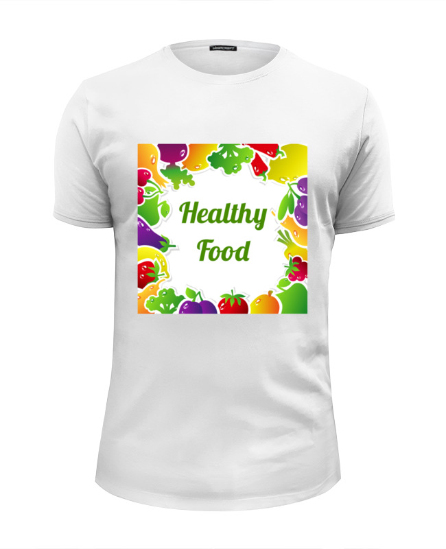 все цены на Футболка Wearcraft Premium Slim Fit Printio Healthy food